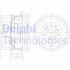 Tambour de frein arriere DELPHI BF153 (X1)