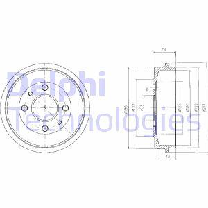Tambour de frein arriere DELPHI BF200 (X1)