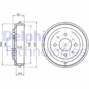 Tambour de frein arriere DELPHI BF389 (X1)