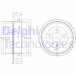 Tambour de frein arriere DELPHI BF463 (X1)