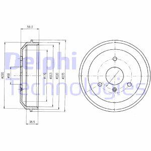 Tambour de frein arriere DELPHI BF465 (X1)