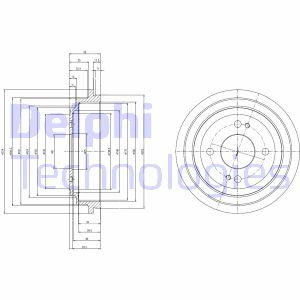 Tambour de frein arriere DELPHI BF516 (X1)