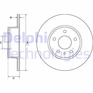 Disque de frein arriere DELPHI BG2386 (X1)
