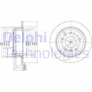Disque de frein DELPHI BG2515 (Jeu de 2)