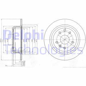 Disque de frein DELPHI BG2614 (Jeu de 2)