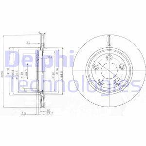 Disque de frein DELPHI BG3512 (Jeu de 2)