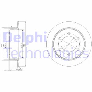 Disque de frein arriere DELPHI BG3522 (X1)