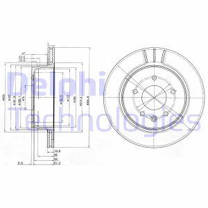 Disque de frein DELPHI BG3542 (Jeu de 2)
