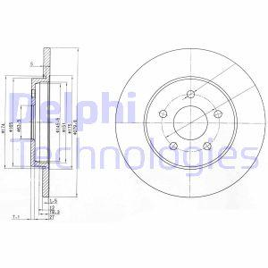 Disque de frein DELPHI BG3663C (Jeu de 2)