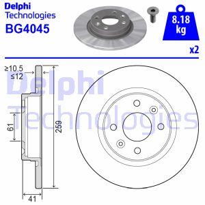 Disque de frein avant DELPHI BG4045 (X1)