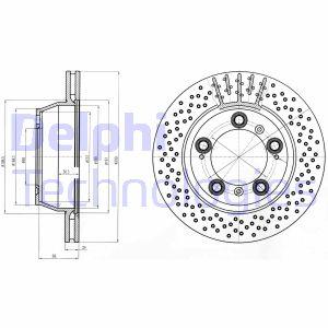 Disque de frein DELPHI BG4163C (X1)