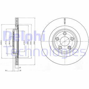 Disque de frein DELPHI BG4202C (X1)