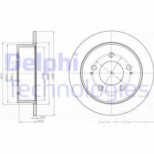 Disque de frein arriere DELPHI BG4220 (X1)