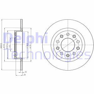 Disque de frein arriere DELPHI BG4315 (X1)