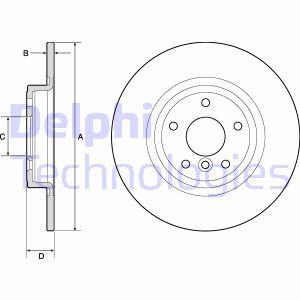 Disque de frein DELPHI BG4766C (X1)