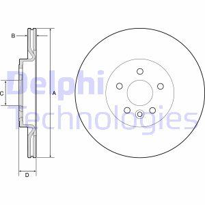 Disque de frein DELPHI BG4786C (X1)