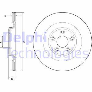 Disque de frein DELPHI BG4833C (X1)