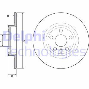 Disque de frein DELPHI BG4930C (X1)