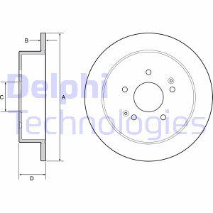 Disque de frein arriere DELPHI BG4940C (X1)