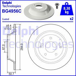 Disque de frein arriere DELPHI BG4956C (X1)