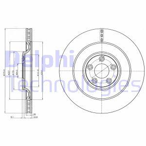 Disque de frein DELPHI BG9103C (X1)