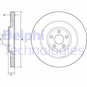 Disque de frein DELPHI BG9194C (X1)