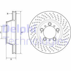 Disque de frein DELPHI BG9226C (X1)
