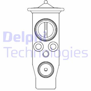 Detendeur de climatisation DELPHI CB1013V (X1)