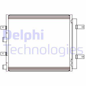 Condenseur / Radiateur de climatisation DELPHI CF20241 (X1)