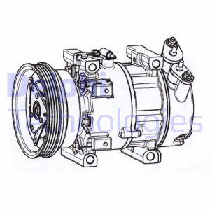 Compresseur DELPHI CS20533 (X1)