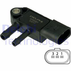 Capteur, pression des gaz échappement DELPHI DPS00001 (X1)