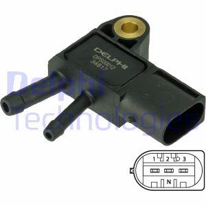 Capteur, pression des gaz échappement DELPHI DPS00012 (X1)