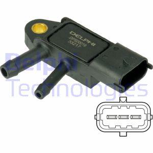 Capteur, pression des gaz échappement DELPHI DPS00019 (X1)