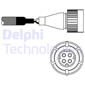 Sonde lambda DELPHI ES10254-12B1 (X1)