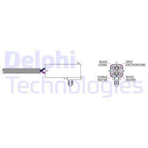 Sonde lambda DELPHI ES20016-11B1 (X1)
