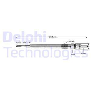 Bougie de prechauffage DELPHI HDS432 (X1)