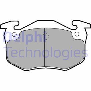 Kit de plaquettes de frein de stationnement DELPHI LP1453 (X1)