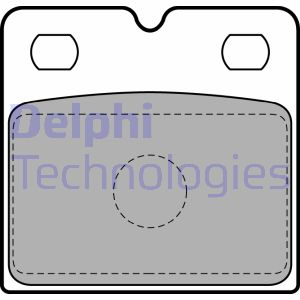 Kit de plaquettes de frein de stationnement DELPHI LP2112 (X1)