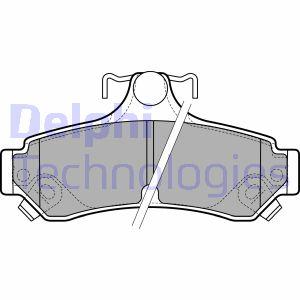 Kit de plaquettes de frein de stationnement DELPHI LP2700 (X1)