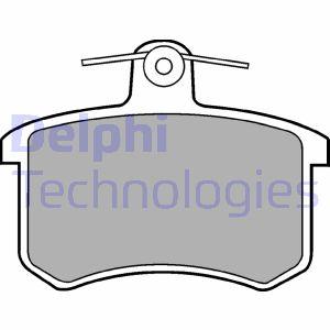 Plaquettes de frein arriere DELPHI LP451 (X1)