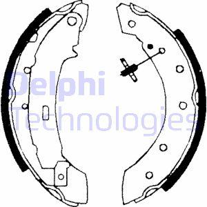 kit de frein arrière simple ou prémonté DELPHI LS1717 (X1)