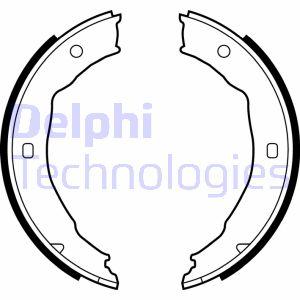 Jeu de mâchoires de frein de frein à main DELPHI LS1881 (X1)
