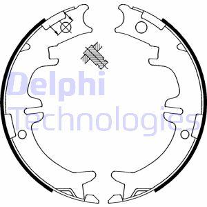 Jeu de mâchoires de frein de frein à main DELPHI LS1892 (X1)
