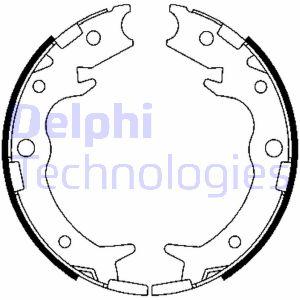 Jeu de mâchoires de frein de frein à main DELPHI LS1900 (X1)