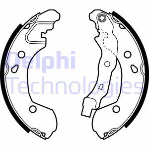 kit de frein arrière simple ou prémonté DELPHI LS1965 (X1)