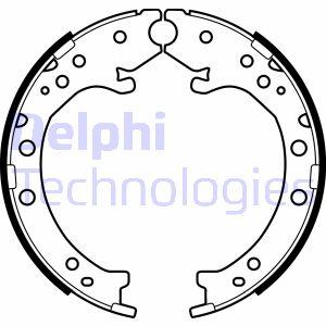 Jeu de mâchoires de frein de frein à main DELPHI LS2034 (X1)