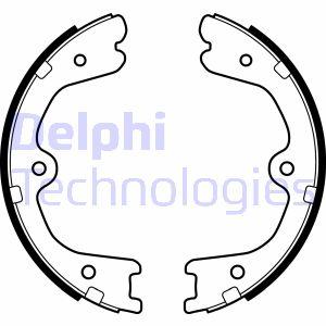 Jeu de mâchoires de frein de frein à main DELPHI LS2037 (X1)