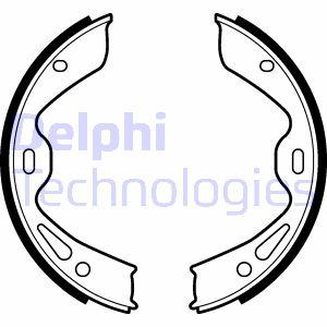 Jeu de mâchoires de frein de frein à main DELPHI LS2120 (X1)