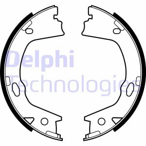 Jeu de mâchoires de frein de frein à main DELPHI LS2153 (X1)