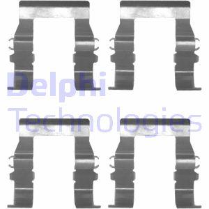 Kit de montage plaquettes de frein DELPHI LX0171 (X1)